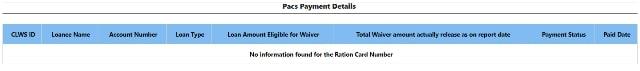 Pacs Payment Details