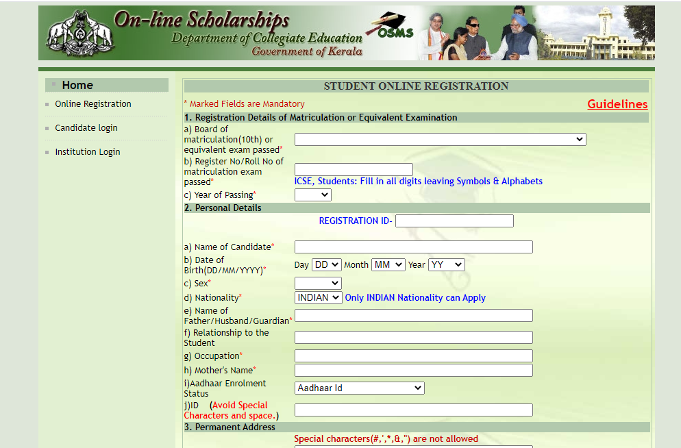 Scholarship Registration