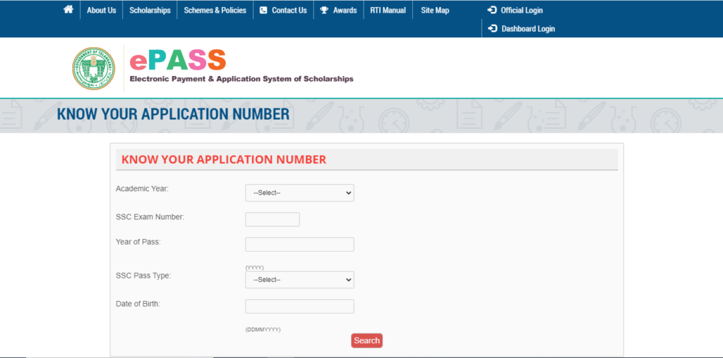 Your Application Number
