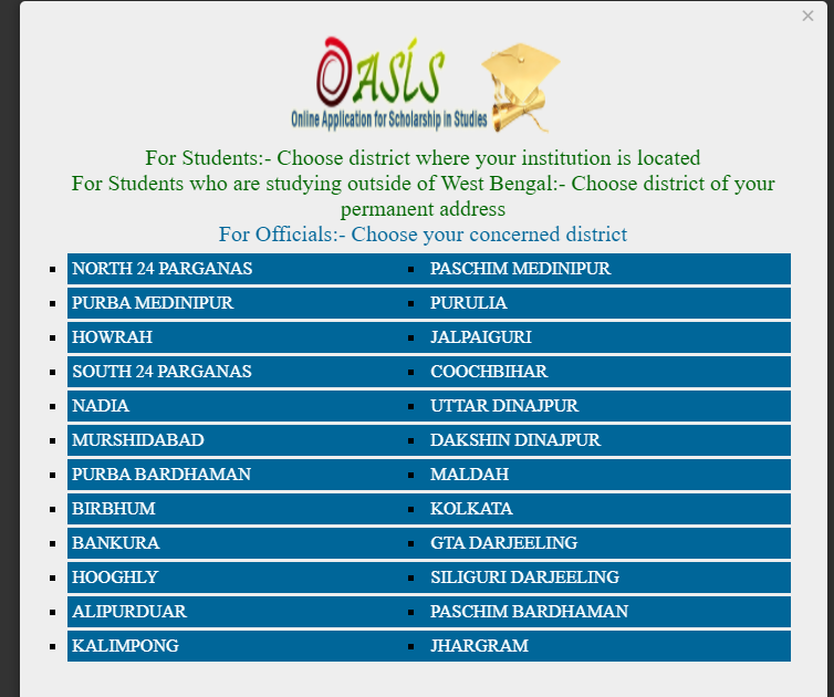 Oasis Scholarship Student Registration