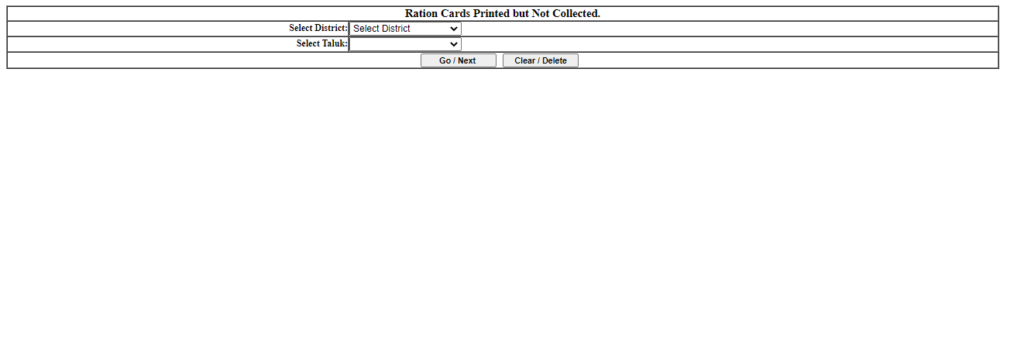 View List of New Ration Cards