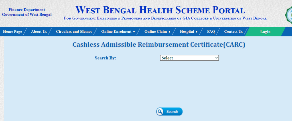Cashless Admissible Reimbursement Certificate