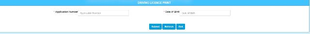 Print Driving Licence